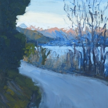 Dan-Scott-Afternoon-In-Queenstown-Oil-16x12-Inches-2017