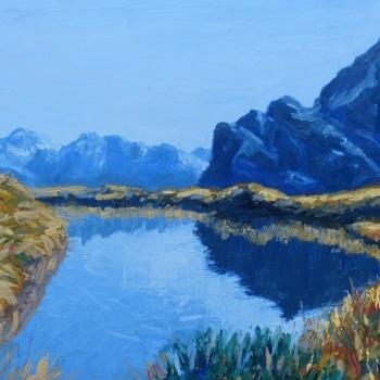 Dan-Scott-New-Zealand-Reflection-Oil-24x30-Inch-2017