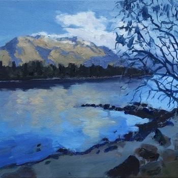 Dan-Scott-New-Zealand-Reflection-Study-12x16-Inches-Oil-On-Canvas-2017