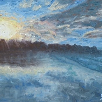 Dan-Scott-Noosa-At-Sunset-Oil-12x16-Inches-2016