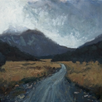 Dan-Scott-Overcast-day-on-the-Overland-Track-Oil-12x16-Inches-November-2018