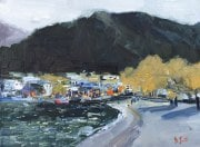 Dan-Scott-Queenstown-From-The-Shore-Oil-12x16-Inches-2017