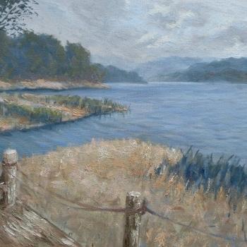 Dan-Scott-Secrets-On-The-Lake-Montville-16x20-Inches-2016