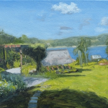 Dan-Scott-Secrets-On-The-Lake-Study-Oil-12x16-Inches-2016