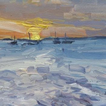 Dan-Scott-Sunset-Study-Kingfisher-Bay-Oil-10x12-Inches-2017