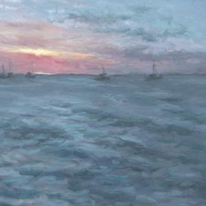 Dan-Scott-Before-The-Sun-Goes-Down-Fraser-Island-Oil-20x24-Inches-2017