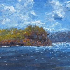 Dan-Scott-Glimmering-Sydney-Waters-Oil-12x16-Inches-2016