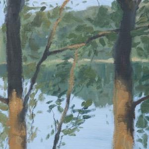 Dan-Scott-Secrets-on-the-Lake-Study-On-Location-Oil-8x10-Inch-Full-Sized