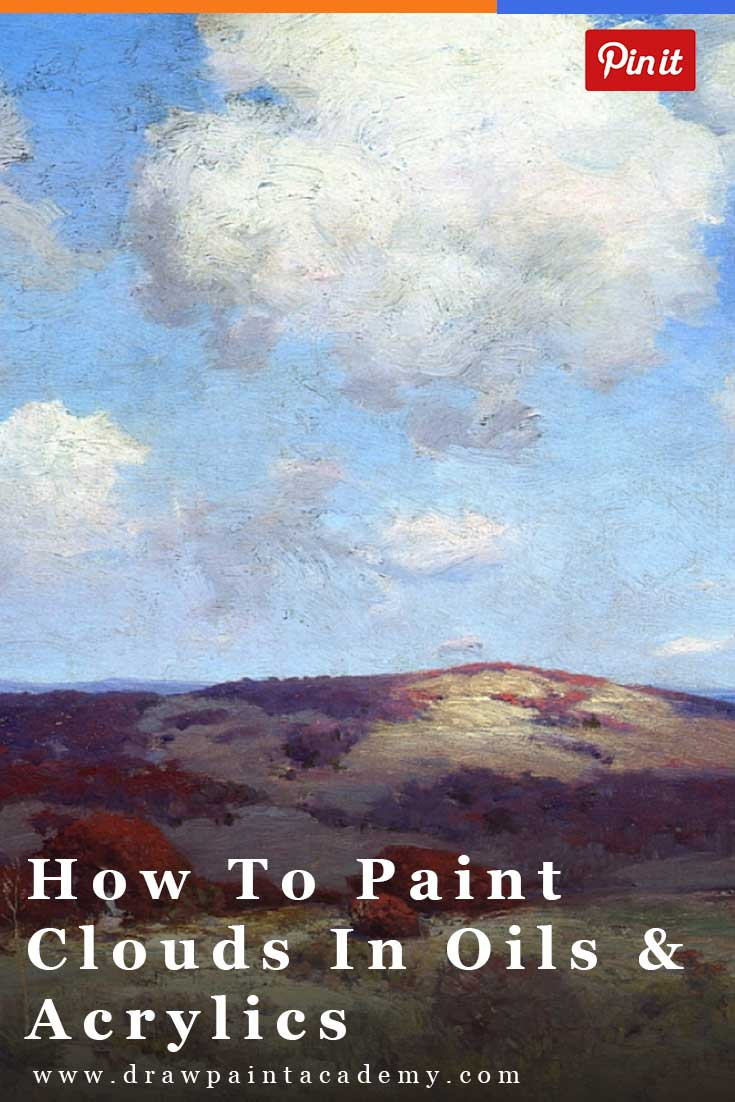 Landscape Painting Tips - How To Paint Clouds In Oils And Acrylics. Clouds are an important part of most landscape paintings so it is important you understand how to paint them.