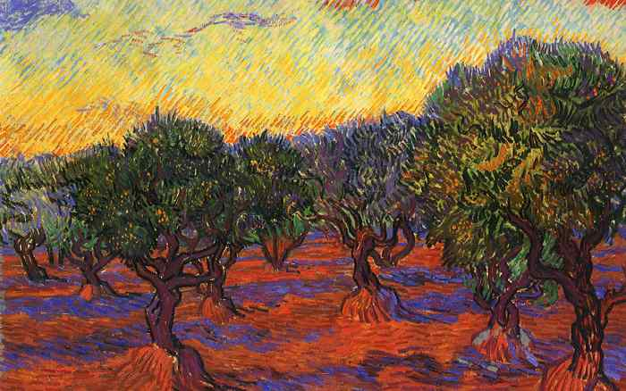 Vincent van Gogh, Olive Grove: Orange Sky, 1889