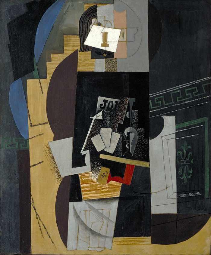 Pablo Picasso, L'Homme aux cartes (Card Player), 1913-14
