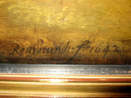 signature of rembrandt