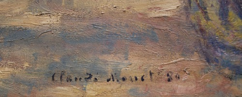 signature of claude monet