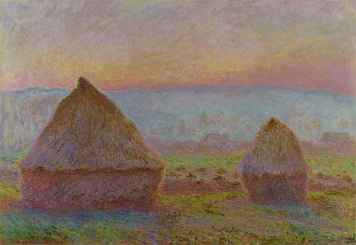 Claude Monet, Grainstacks at Giverny; The Evening Sun, 1888-1889