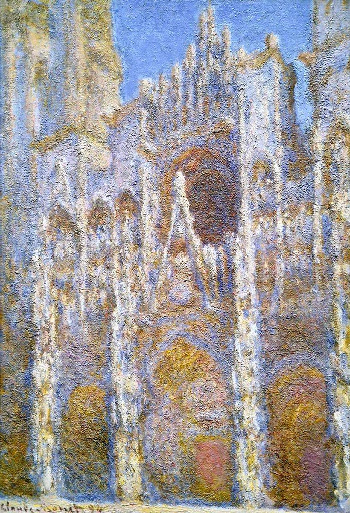 Claude Monet, Rouen Cathedral, Sunlight Effect, 1894