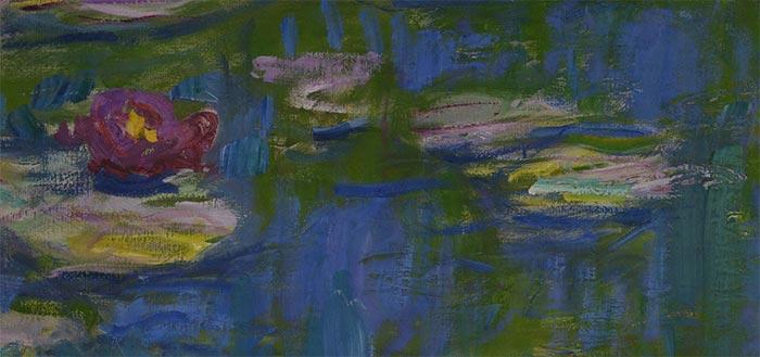 Claude Monet, Water Lilies, 1916 - Closeup