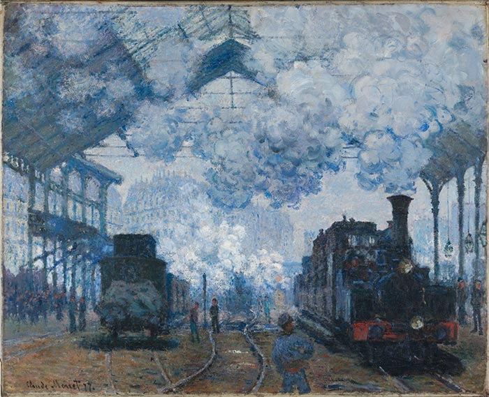 Claude Monet, The Saint-Lazare Station in Paris Arrival of a Train, 1877