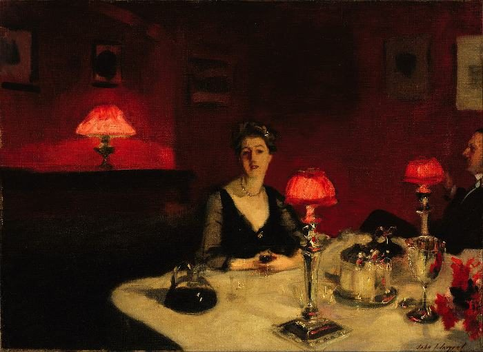 John Sargent, A Dinner Table at Night, 1884, De Young Museum, San Francisco, CA