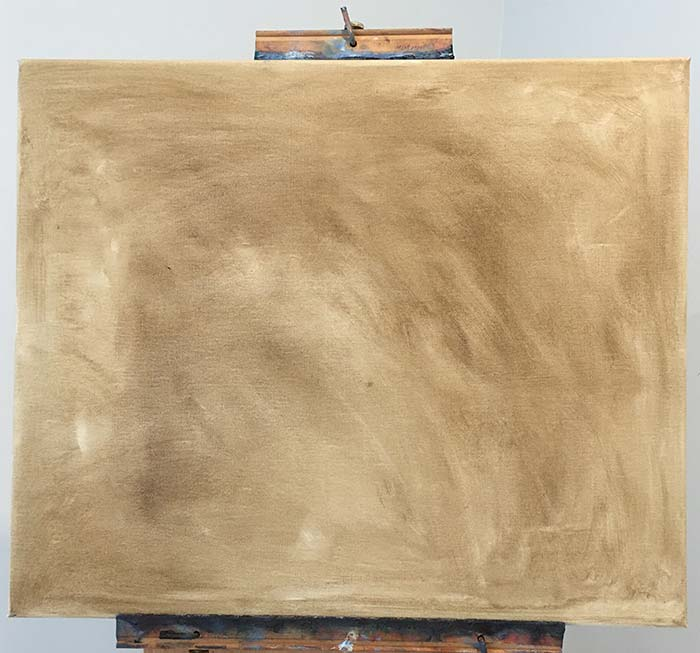 Step 1 - Stain the canvas