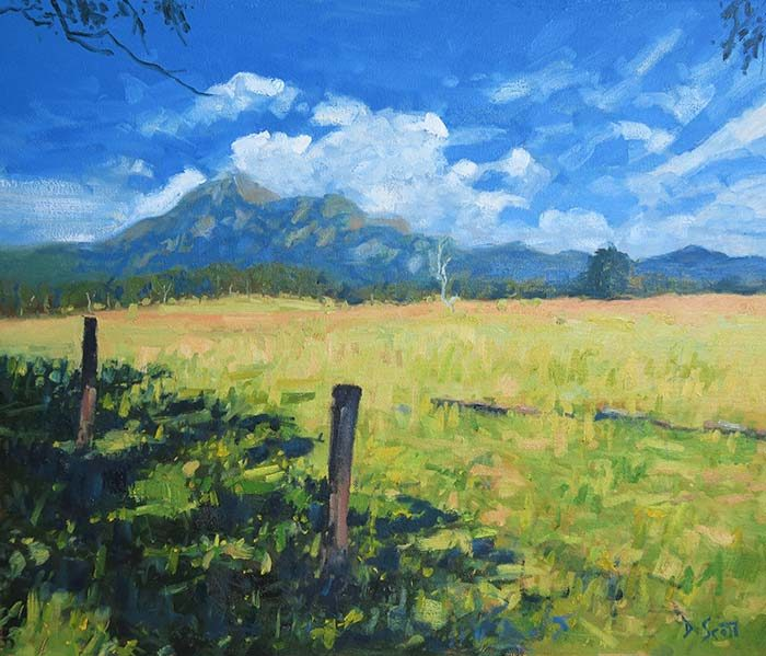 Mt Barney, Oil on Canvas, 20x24 Inches