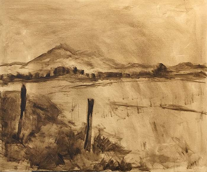 Landscape painting sketch