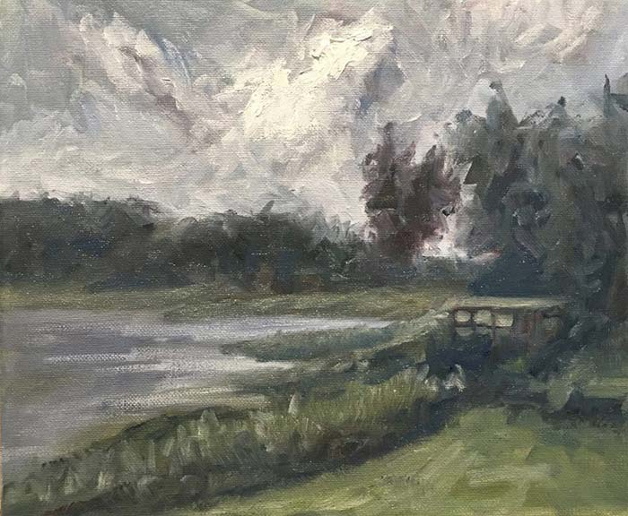 Secrets (Study), Oil On Canvas, Daniel Scott