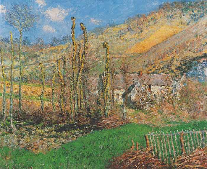 Claude Monet, Winter Landscape at the Val de Falaise (Giverny), 1885