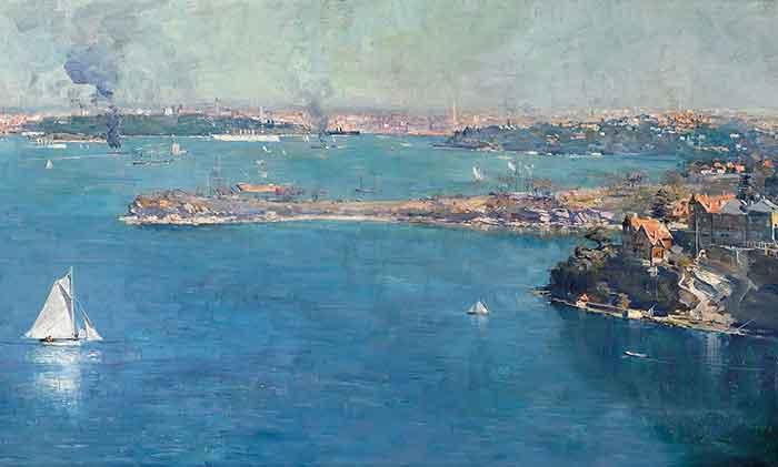 Arthur Streeton, Sydney Harbour, 1907