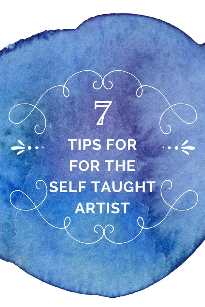 7 Tips For The Self Taught ArtistNot everyone has the benefit of going to a top art school. So here are some great tips for all you self taught artists out there.