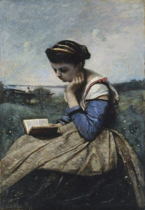 Camille Corot, A Woman Reading, c 1869
