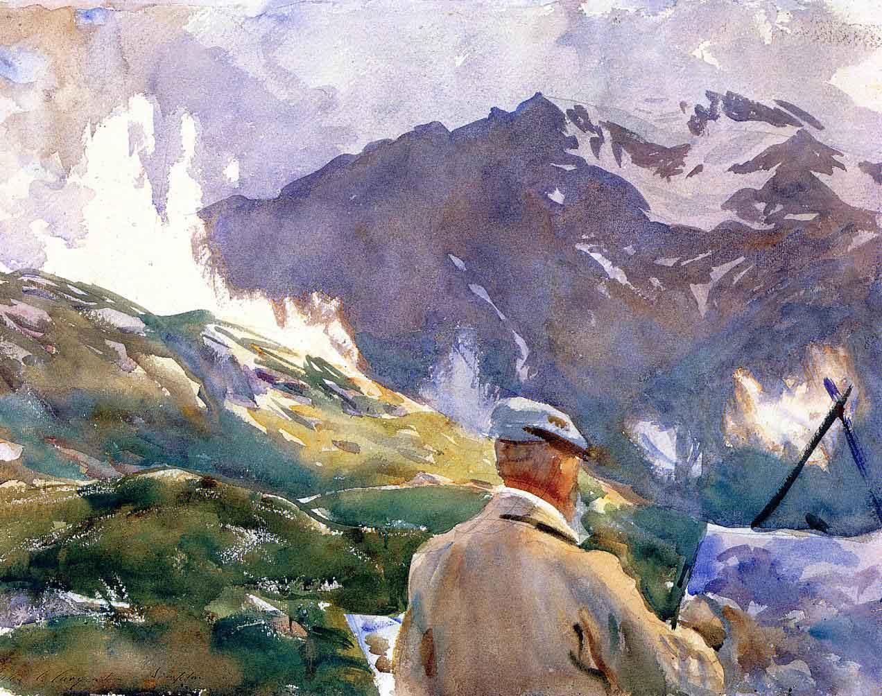Artist_in_the_Simplon_John_Singer_Sargent