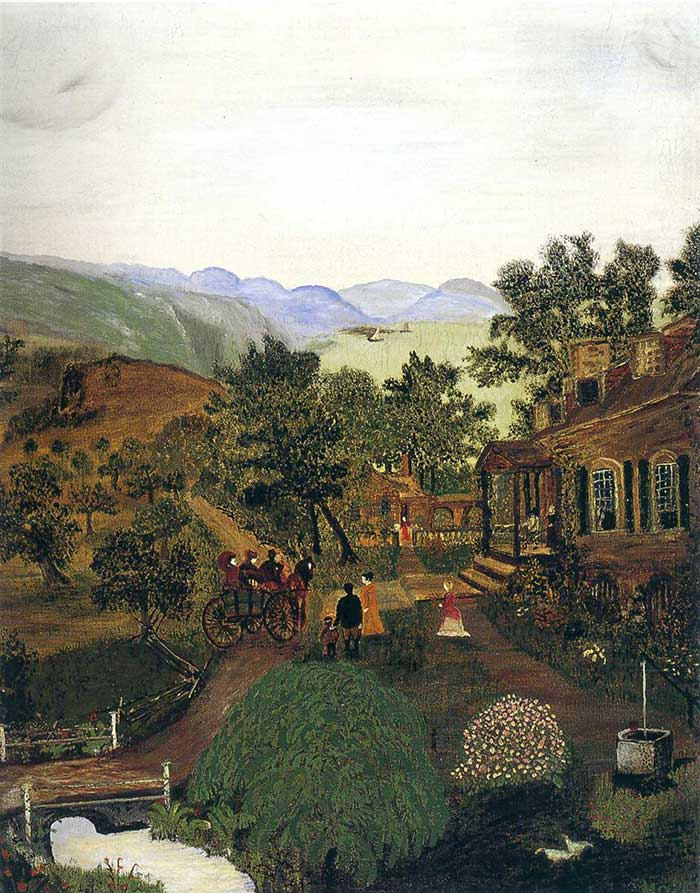 Grandma Moses, Shenandoah Valley (1861 News of the Battle), 1938