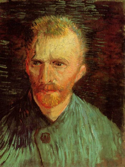 10. Vincent van Gogh, Self-Portrait, 1887