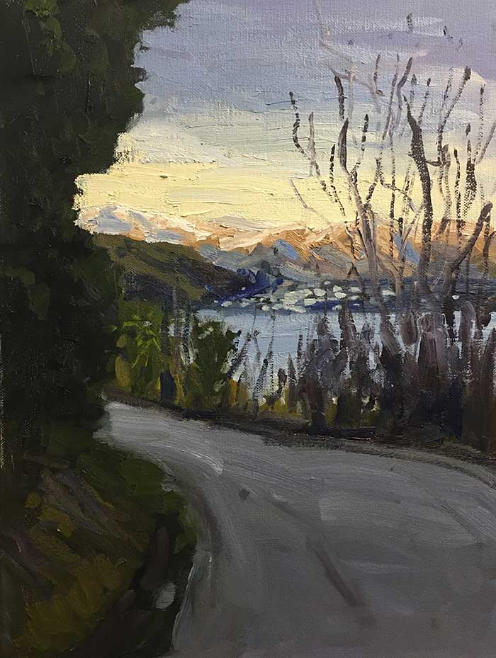 Step By Step Painting Tutorial - Afternoon In Queenstown