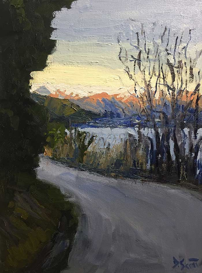 Progress Shot 14, Step By Step Painting Tutorial - Afternoon In Queenstown