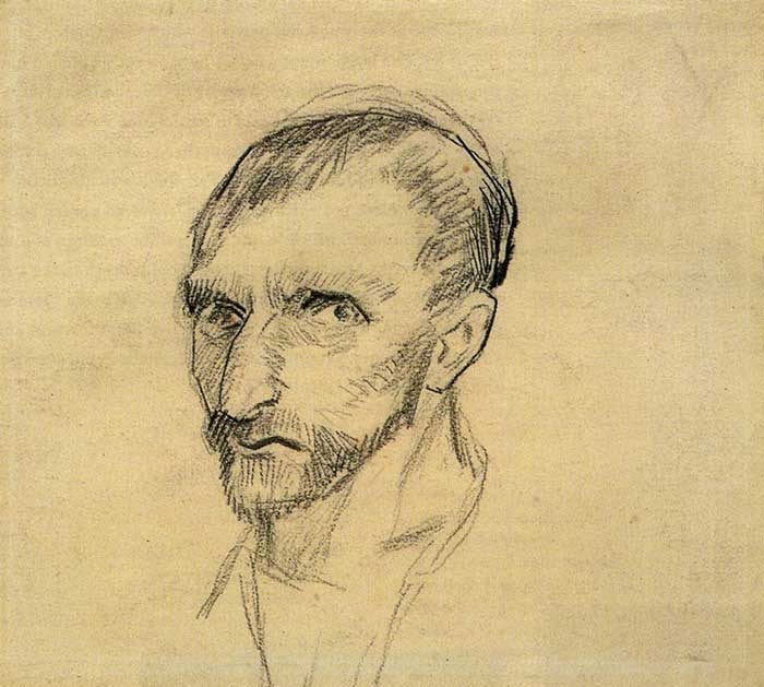 2. Vincent van Gogh, Self-Portrait, 1886