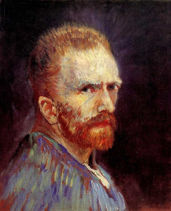 20. Vincent van Gogh, Self-Portrait, 1887