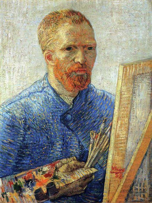 32. Vincent van Gogh, Self Portrait As An Artist, 1888