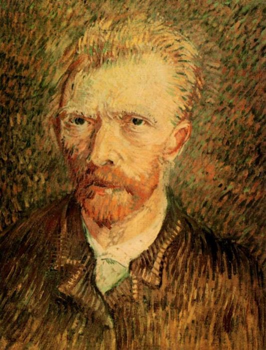 35. Vincent van Gogh, Self-Portrait, 1888