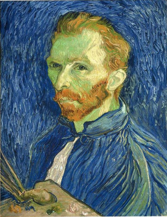 38. Vincent van Gogh, Self Portrait With Palette, 1889