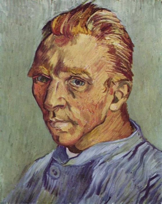 40. Vincent van Gogh, Self-Portrait, 1889