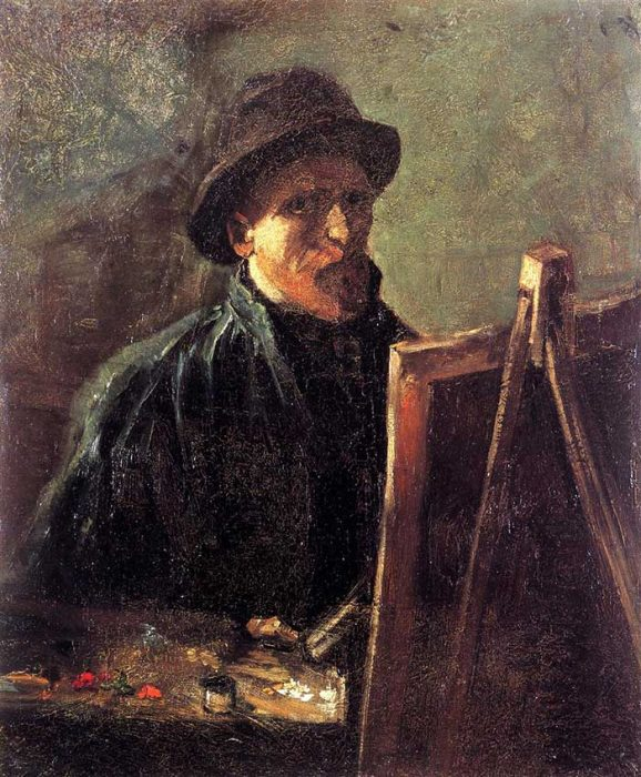 5. Vincent van Gogh, Self-Portrait With Dark Felt Hat At The Easel, 1886