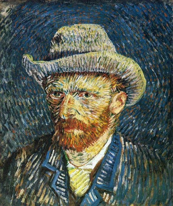 8. Vincent van Gogh, Self Portrait With Felt Hat, 1887