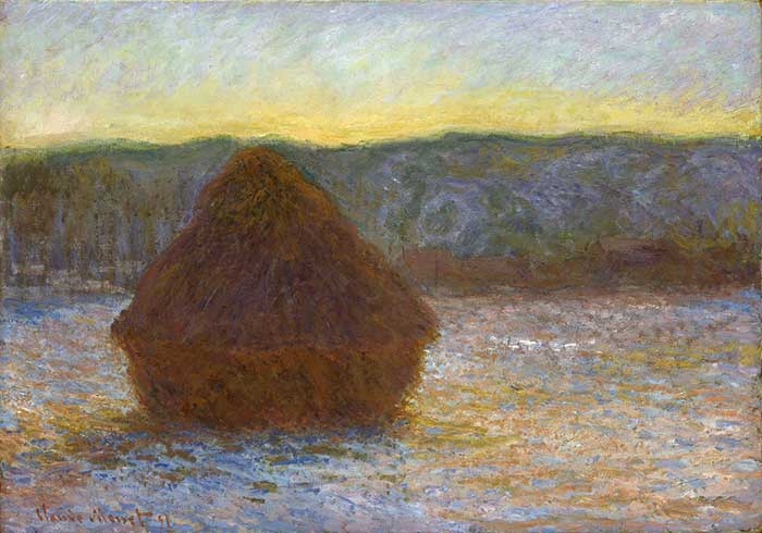 Claude Monet, Grainstack, Thaw, Sunset, 1891