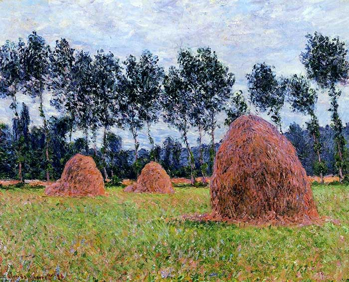 Claude Monet, Haystacks, Overcast Day, 1884