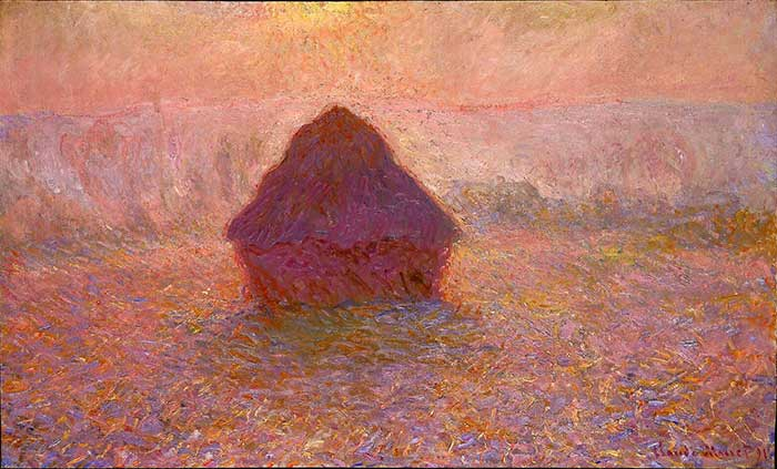 Claude Monet, Haystacks, Sun in The Mist, 1891