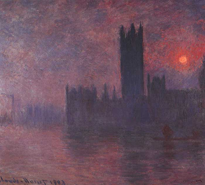 Claude Monet, Houses Of Parliament At Sunset, 1903