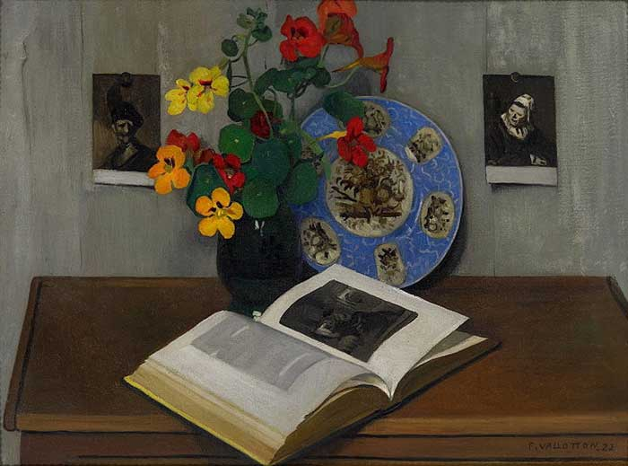 Felix Vallotton, Still Life With Blue Trim, 1922