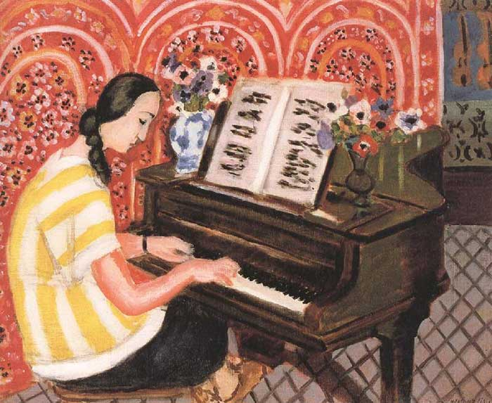 Henri Matisse, Woman At The Piano, 1925