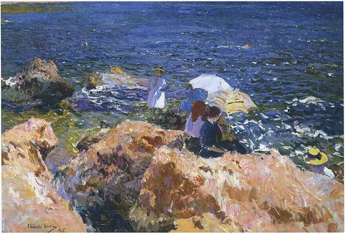Joaquín Sorolla, On The Rocks At Javea, 1905
